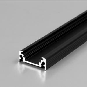 LED profil, SURFACE10, BC/UX, alu-črn anodiziran, 2m