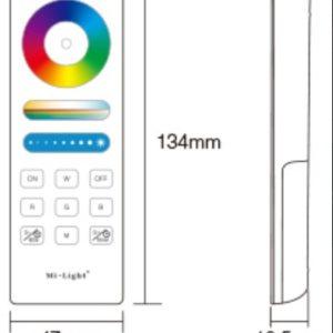 Daljinec RGB za LED trakove 1 cona