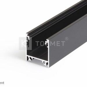 LED profil, LINEA20, EF/TY, alu-črn anodiziran, 2m
