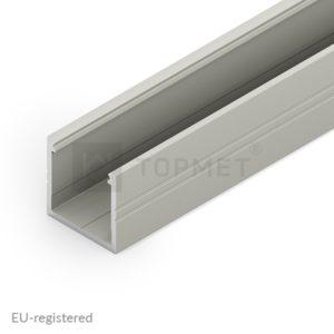 LED profil, SMART16, B/U4, alu-anodiziran, 2m