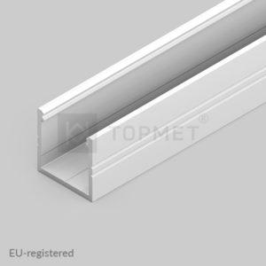 LED profil, SMART16, B/U4, alu-belo barvan, 2m
