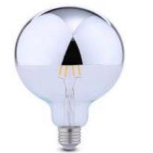 LED sijalka GLOBO Mirror Top - srebrna