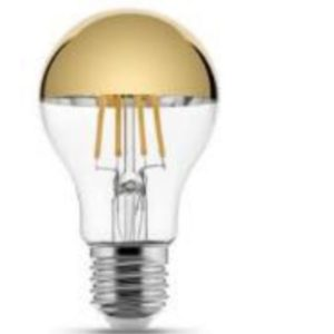LED sijalka klasika Mirror Top - zlata