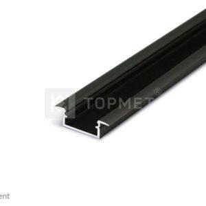 LED profil, BEGTIN12 J/S, alu-črn anodiziran, 2m