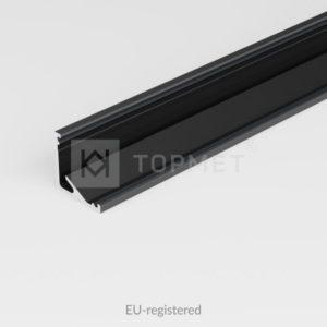 LED profil, CABI12 E , alu-črn anodiziran, 2m