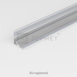 LED profil, CABI12 E , alu-surovi, 2m