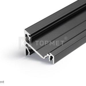 LED profil, CORNER14 EF/TY, alu-črn anodiziran, 2m