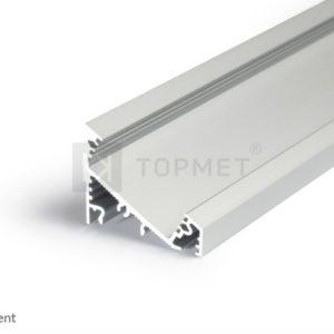 LED profil, CORNER27 G/UX, anodiziran, 2m