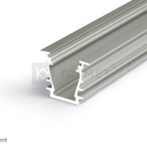 LED profil, DEEP10, anodiziran, 2m
