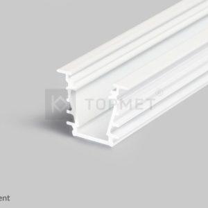 LED profil, DEEP10, alu-belo barvan, 2m