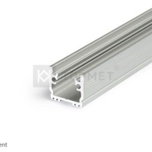 LED profil, FLOOR12 K/U, alu-anodiziran, 2m