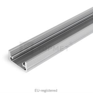 LED profil, FLOOR8 K, alu-anodiziran, 2m
