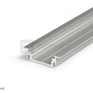 LED profil, GROOVE14 EF/TY, alu-anodiziran, 2m