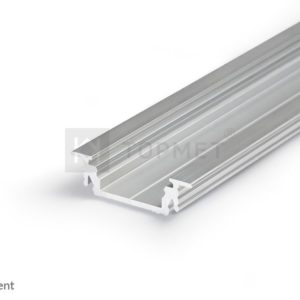 LED profil, GROOVE14 EF/TY, alu-surovi, 2m