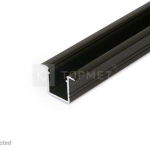 LED profil, SMART-IN10 AC2/Z, alu-črn anodiziran, 2m