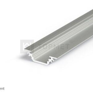 LED profil, TRIO10, alu-anodiziran, 2m
