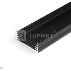 LED profil, WIDE24 G/W, alu-črn anodiziran, 2m