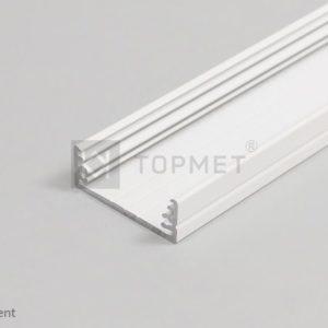 LED profil, WIDE24 G/W, alu-belo barvan , 2m