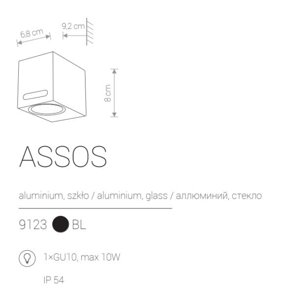 Zunanja svetilka, stenska, ASSOS, 10W
