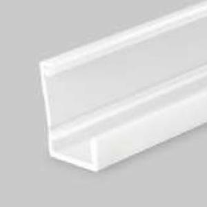 LED profil, SLASH8, alu-belo barvan, 2m