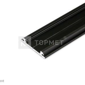 LED profil, ARC12 CD/U5, alu-črn anodiziran, 2m