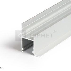 LED profil, FRAME14 BC/Q, anodiziran, 2m