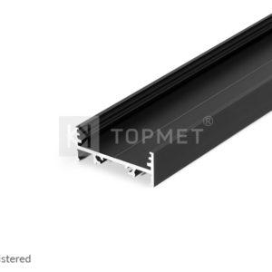 LED profil, VARIO30-01, alu-črn anodiziran, 2m