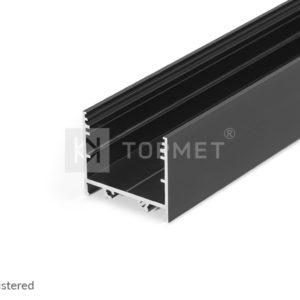 LED profil, VARIO30-02, alu-črn anodiziran, 2m