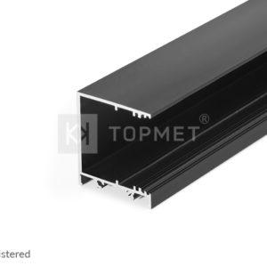 LED profil, VARIO30-03, alu-črn anodiziran, 2m