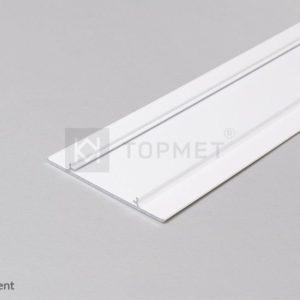 LED profil, WALLE12 POKROV, alu-bel anodiziran, 2m