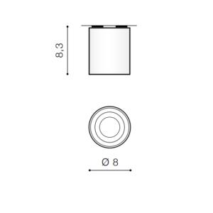 LED stropne svetilke, MINI BROSS, 50W, GU10, krom