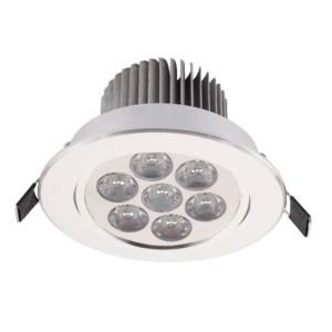 Notranja Stropna, DOWNLIGHT LED 7 silver, 7W, IP20