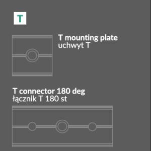 Montažna Ploščica/Pritrdilo T za LED profile