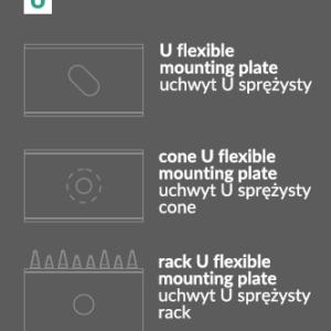Montažna Ploščica/Pritrdilo U za LED profile