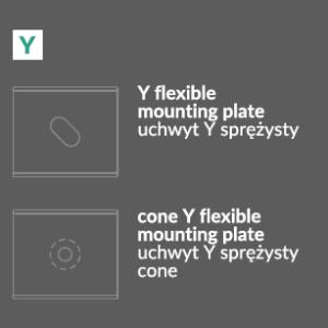 Montažna Ploščica/Pritrdilo Y za LED profile