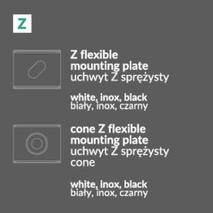 Montažna Ploščica/Pritrdilo Z za LED profile