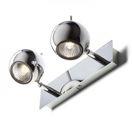 GLOSSY II   krom 230V LED GU10 2x8W