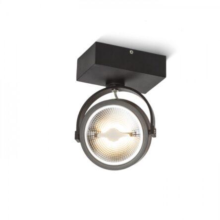 KELLY LED I stenska črna  230V LED 12W 24°  3000K