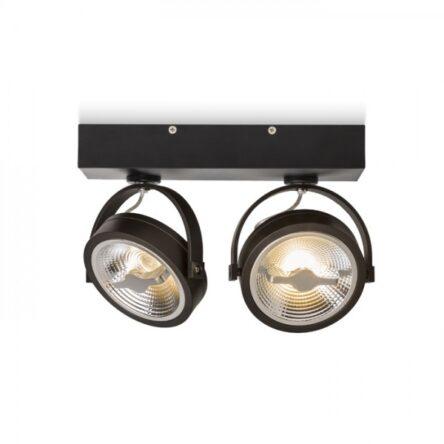 KELLY LED II stenska črna  230V LED 2x12W 24°  3000K