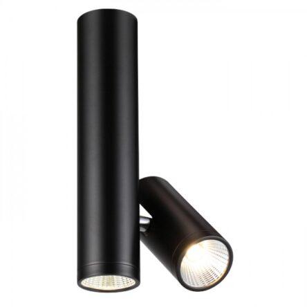 BOGARD TWIN stropna mat črna  230V LED 2x5W 40°  3000K