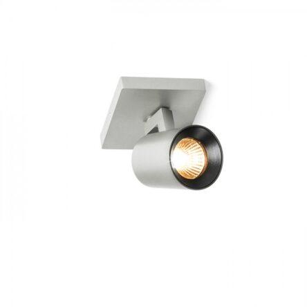 KENNY I nadgradni  brušeni aluminij/črna 230V GU10 35W