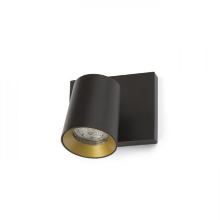 KENNY I nadgradni črna/zlata  230V GU10 35W