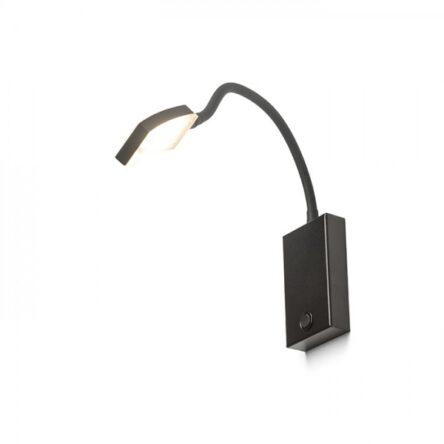 FRISCO W stenska črna  230V LED 4.2W 120°  3000K
