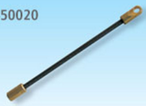 Nastavek - vzmetna sonda z ušesom za predvleko Twist, medenina/jeklo, 7mm, M5,