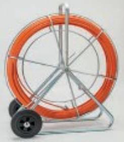 Predvleka na kolutu s koleščki, PP-steklena vlakna, 9mm, 120m, M12