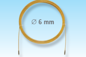 Predvleka za kable, PP-jeklo, 6mm, 20m, M5, rumena
