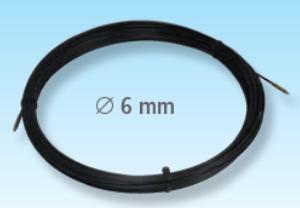Predvleka za kable, PP-steklena vlakna, 6mm, 40m, M6, črna