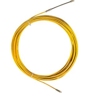 Predvleka za kable, TWIST, poliester, 4,5mm, 25m, M5, rumena