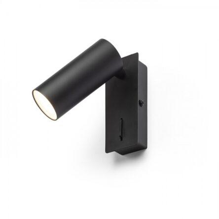 TAPIO I SQ stenska črna  230V LED 4.5W  3000K
