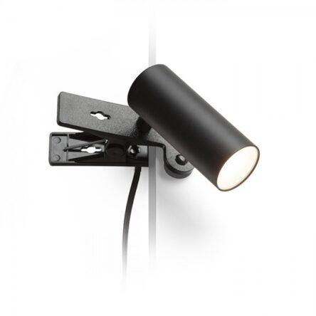 TAPIO s sponko črna  230V LED 4.5W  3000K